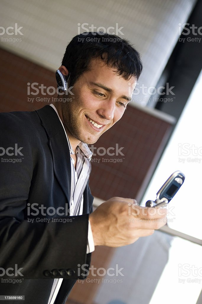 Businessman on a cell phone call royalty-free stock photo