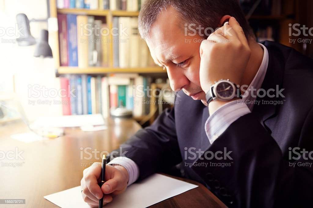 Businessman on a Cell Phone royalty-free stock photo