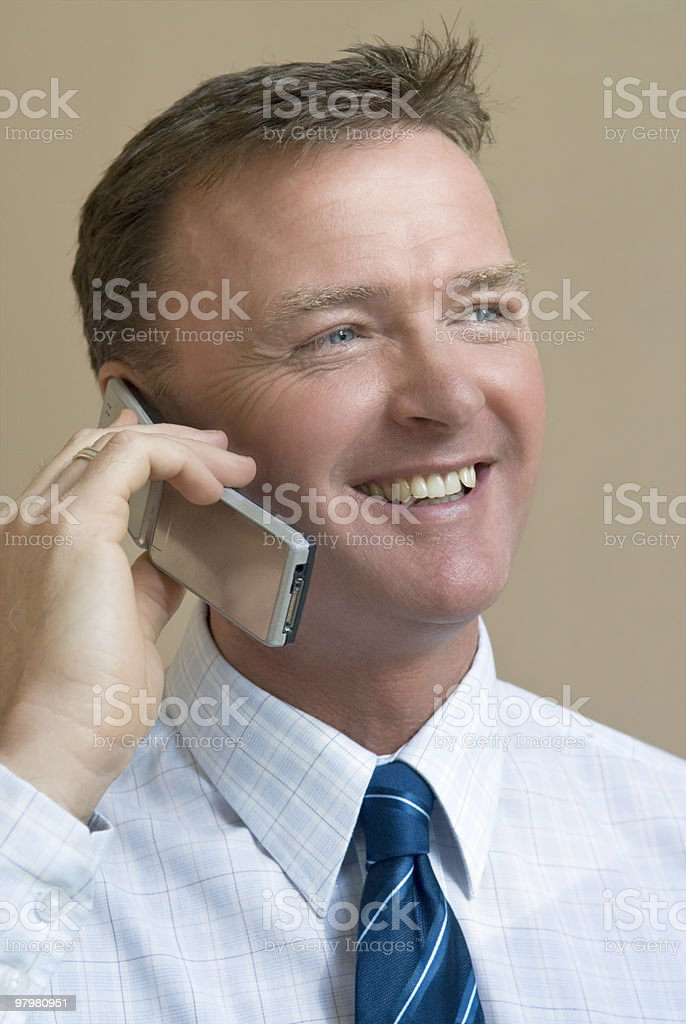 Businessman on cellphone. royalty-free stock photo
