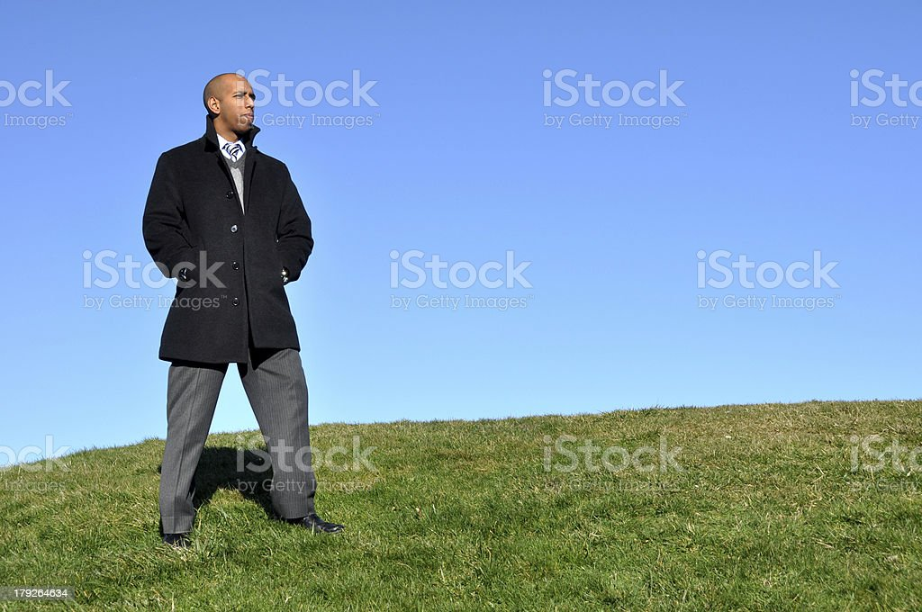 Businessman on High stock photo