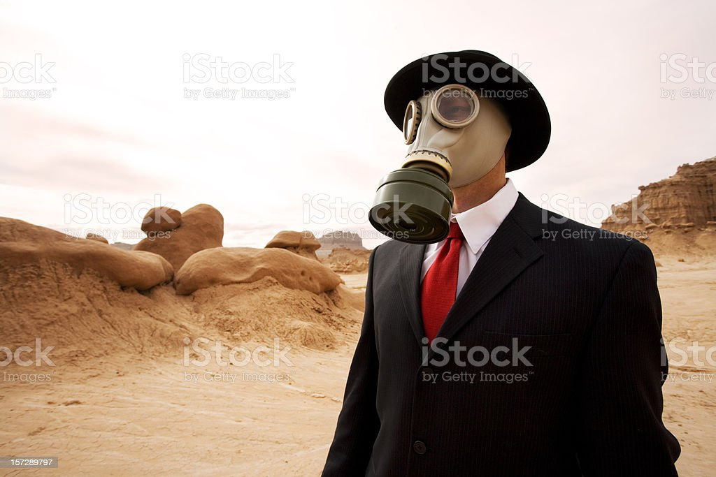 Businessman on Mars royalty-free stock photo