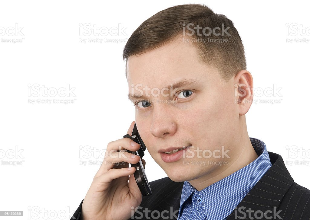 businessman on phone royalty-free stock photo