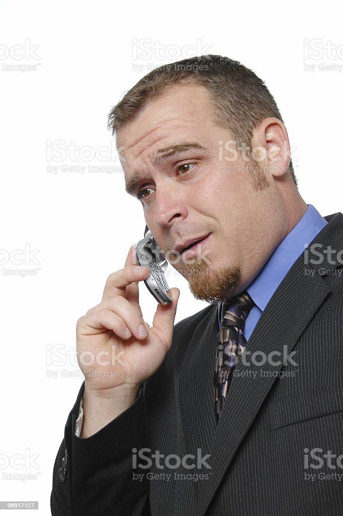 Businessman on the cell phone royalty-free stock photo