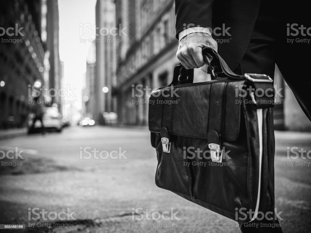Businessman on the go stock photo