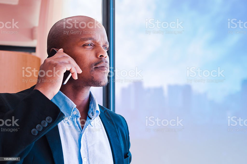 Businessman on the phone  Adult Stock Photo
