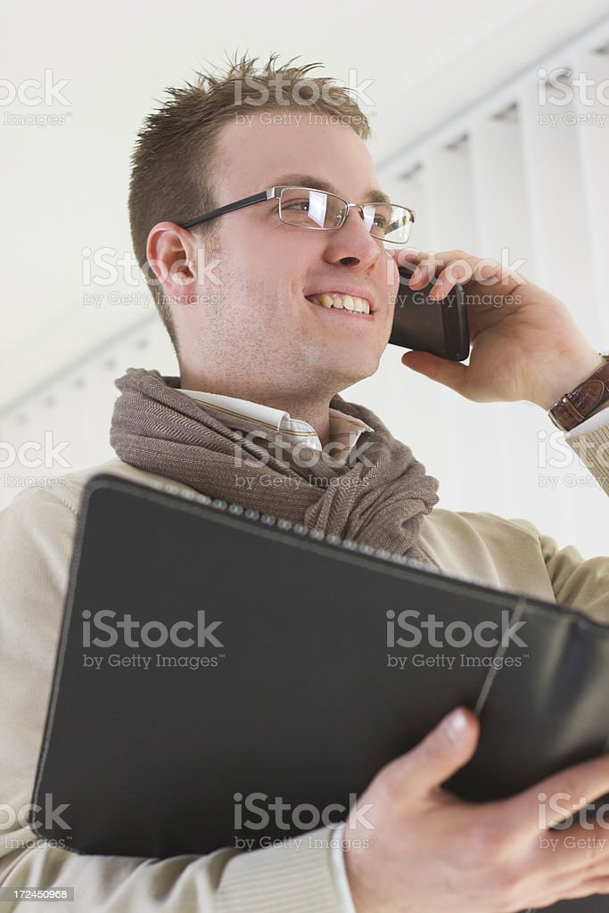 Businessman on the Phone. royalty-free stock photo