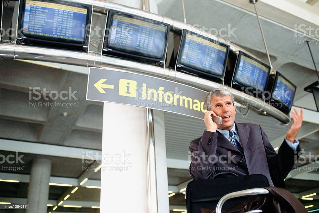 Businessman on the phone royalty free stockfoto
