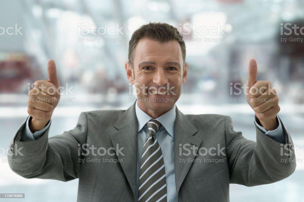 Geschäftsmann auf der obersten – Foto