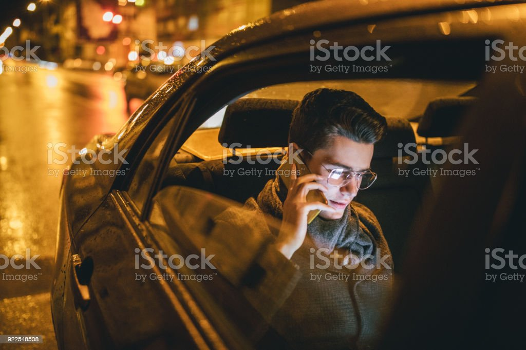 Businessman on the trip stock photo