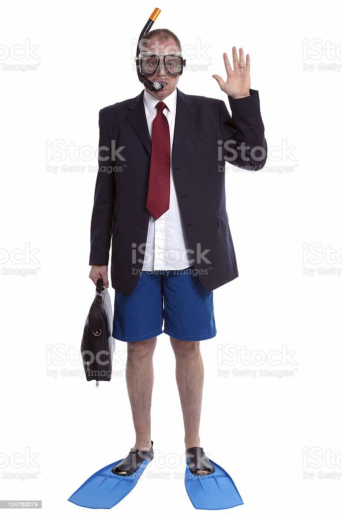 Businessman on Vacation stock photo