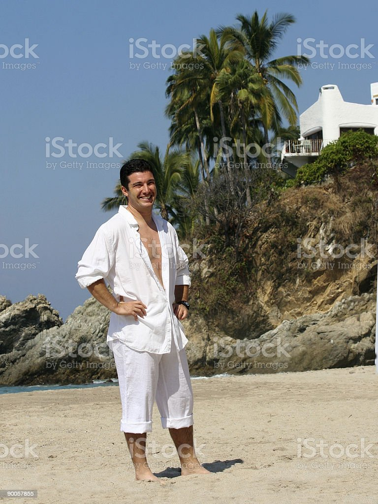 Businessman on vacation royalty-free stock photo