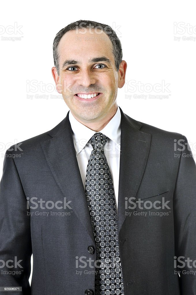 Businessman on white background royalty-free stock photo