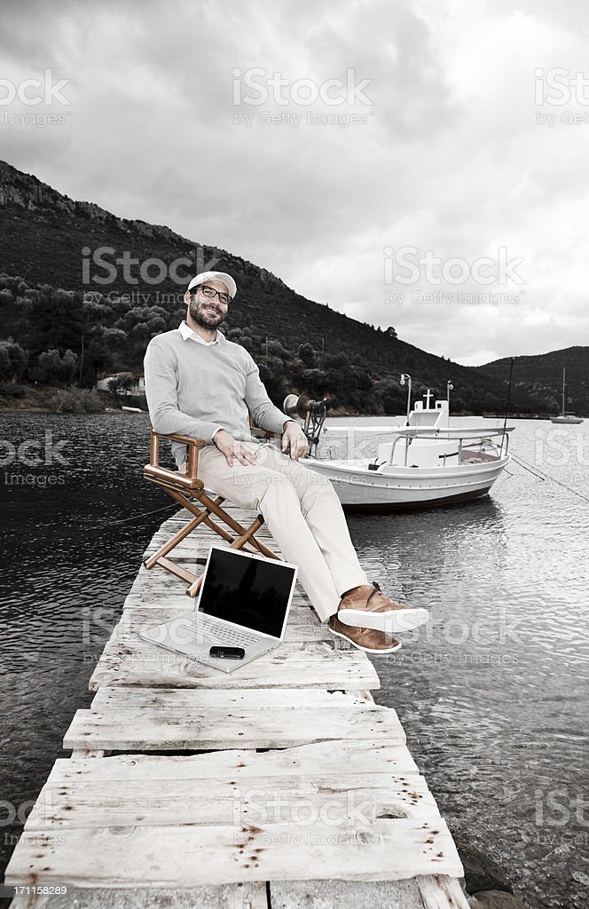 Businessman Out of Office. royalty-free stock photo