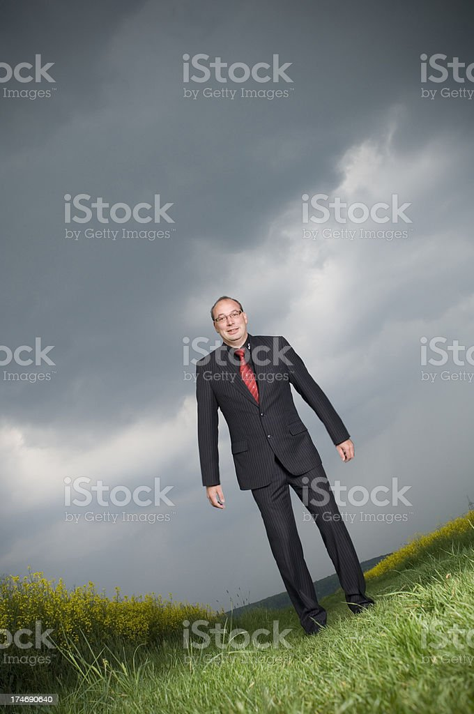 Businessman outdoor stock photo