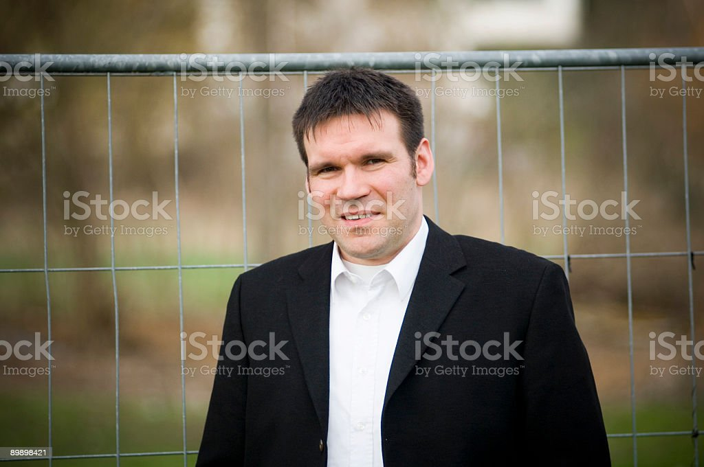 Businessman outdoor royalty-free stock photo