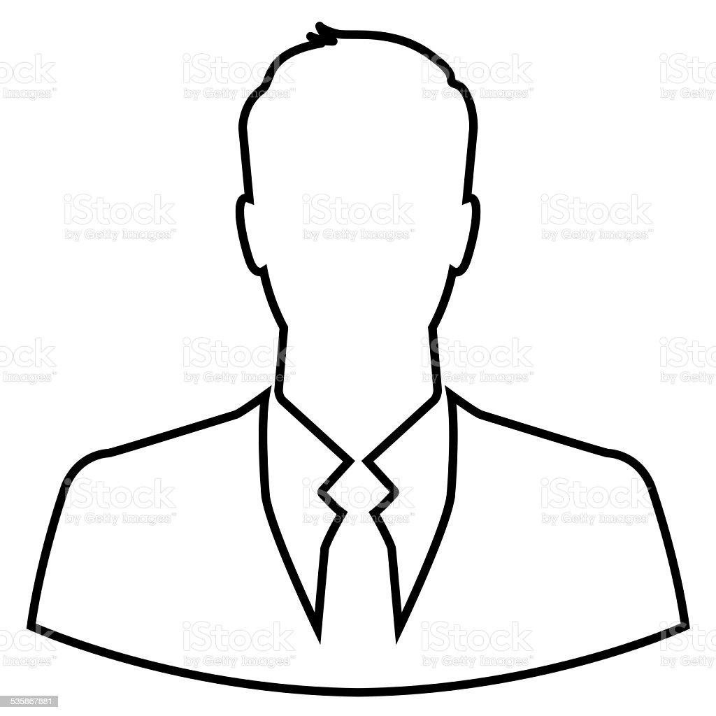 Businessman outline icon stock photo