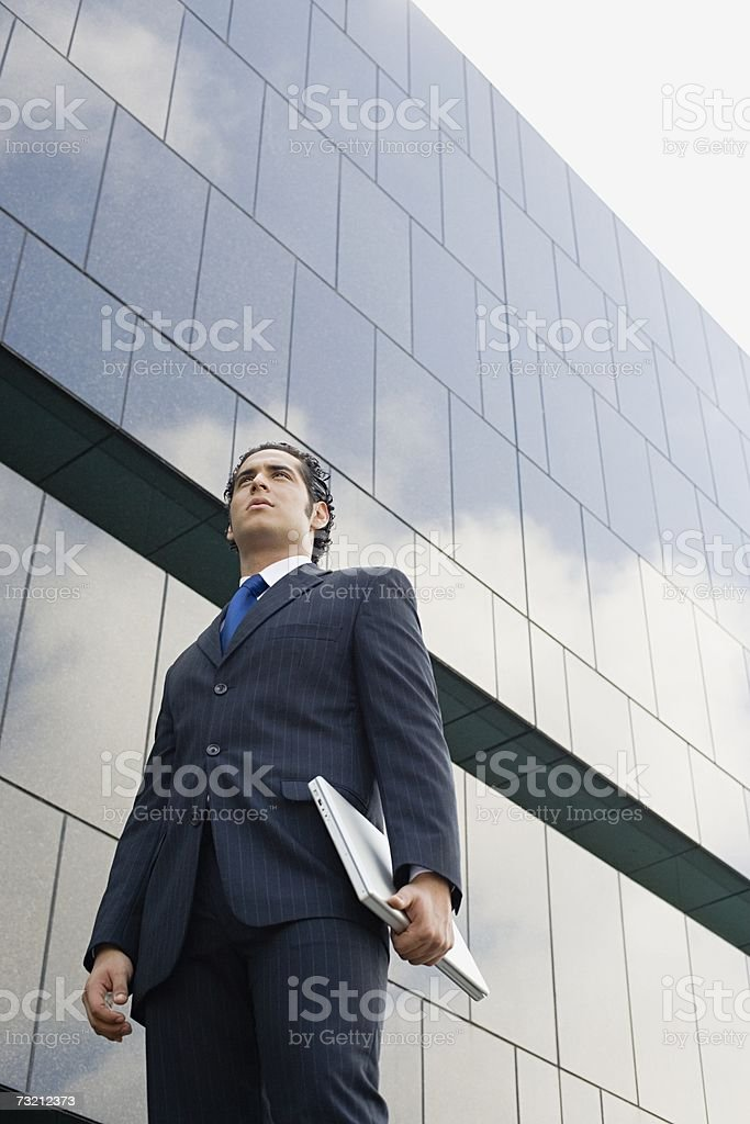 Businessman outside office royalty-free stock photo