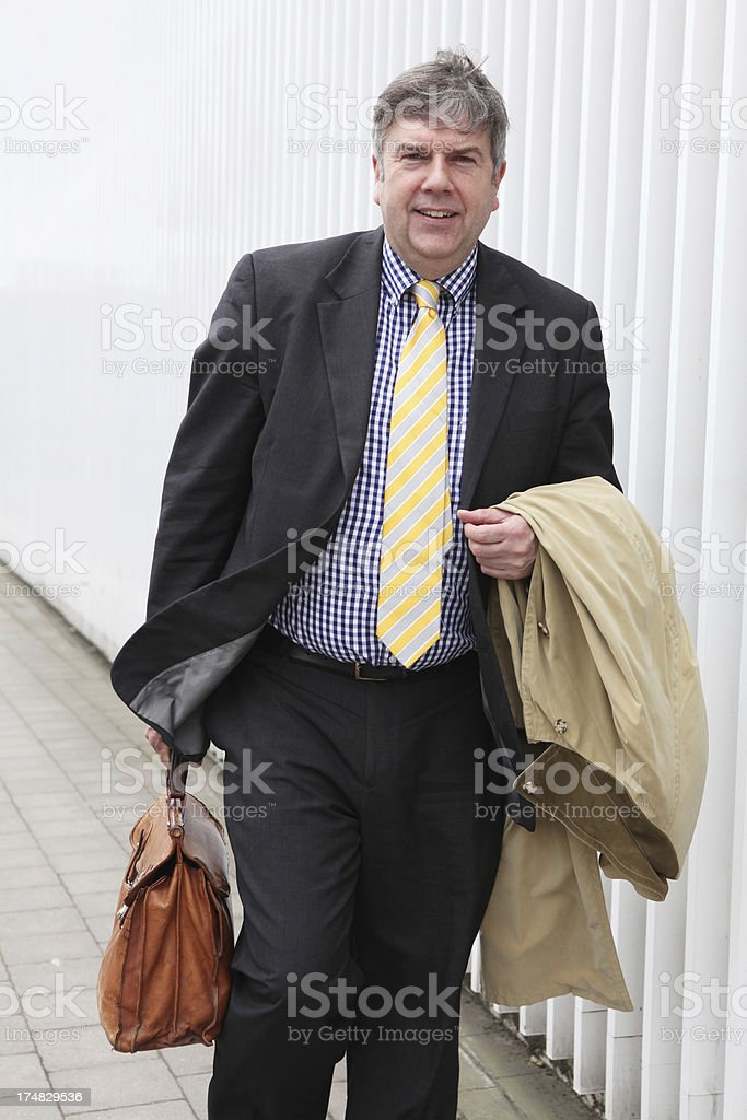 Businessman outside royalty-free stock photo