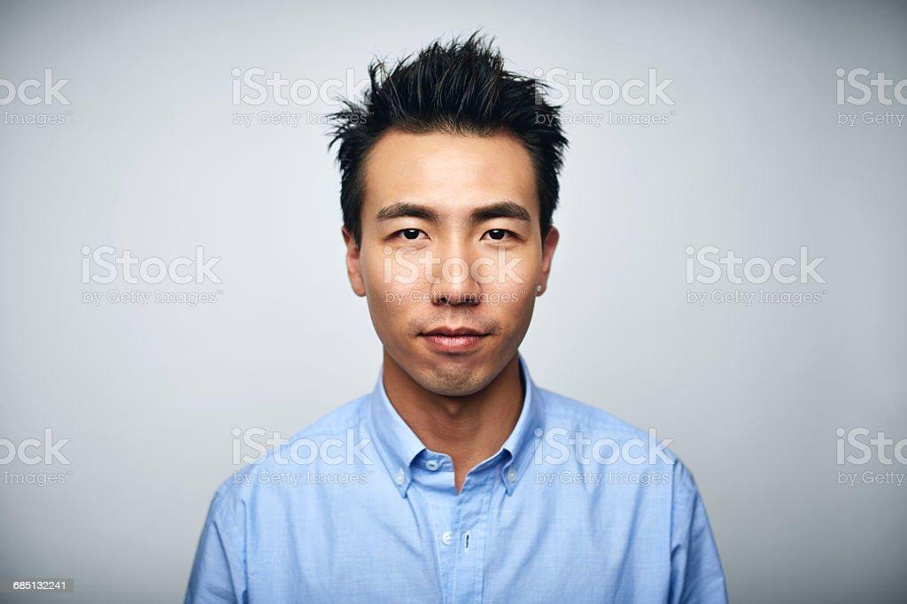 Businessman over white background stock photo