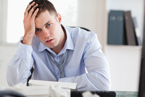 690496350 istock photo Businessman overextended with his accounting 826505402