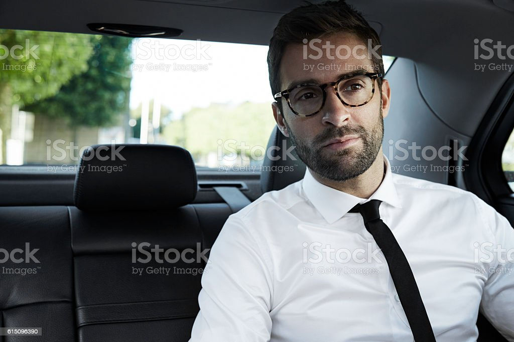 Businessman passenger stock photo