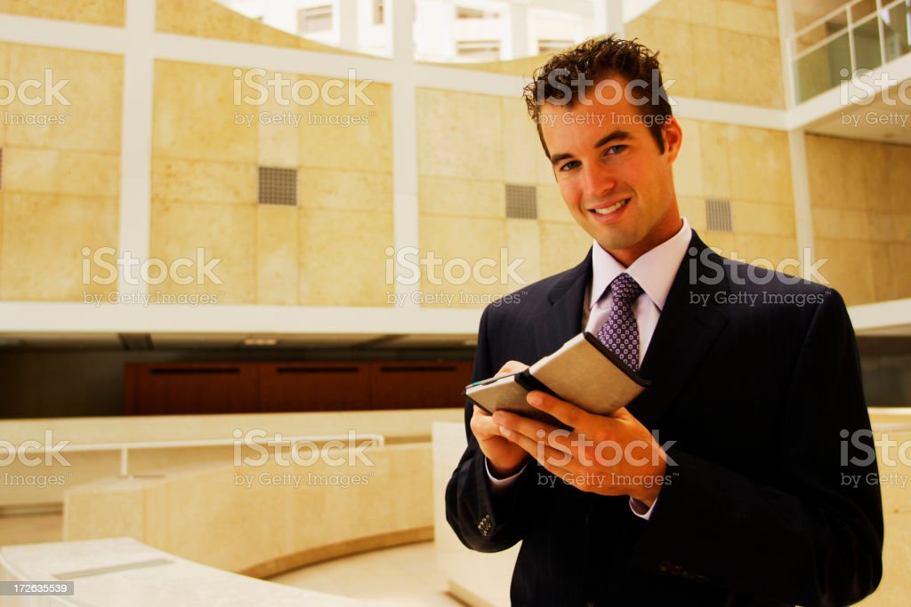 Businessman PDA royalty-free stock photo