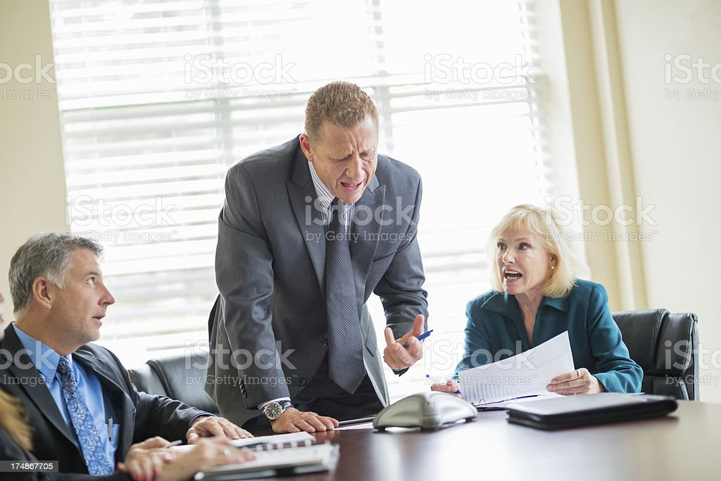Businessman People In Conference Call Meeting royalty-free stock photo