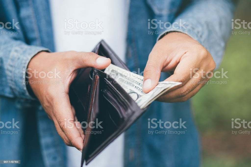Technology Management Image: Businessman Person Holding An Wallet In The Hands Of An