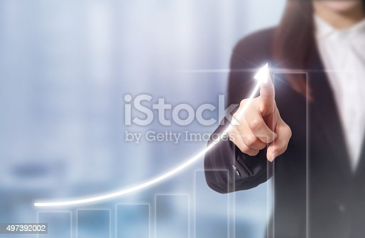 istock Businessman plan growth 497392002