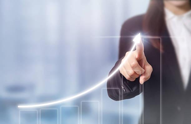 Businessman plan growth stock photo