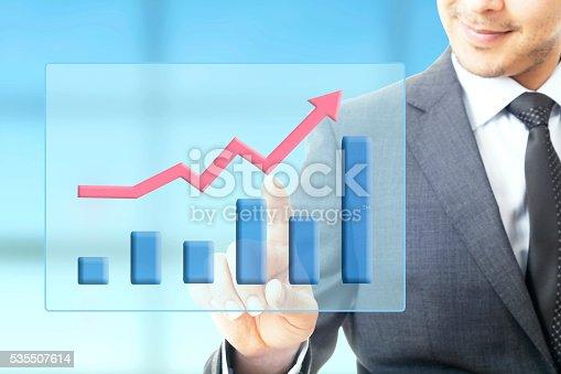 509469434istockphoto Businessman plan growth 535507614