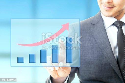 509469434istockphoto Businessman plan growth 537636942