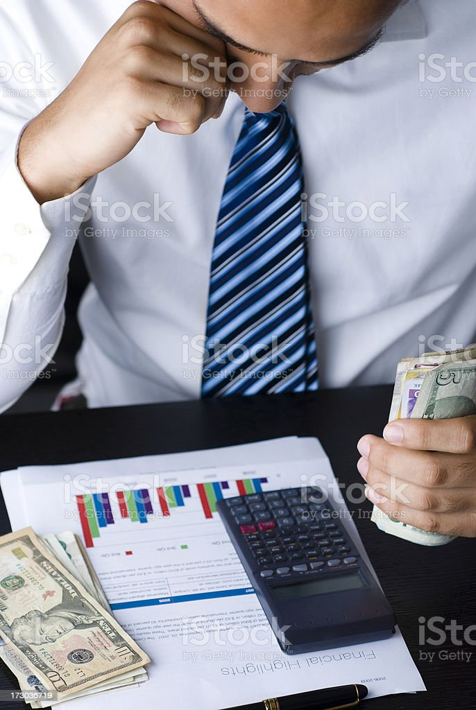 Businessman planning his future royalty-free stock photo