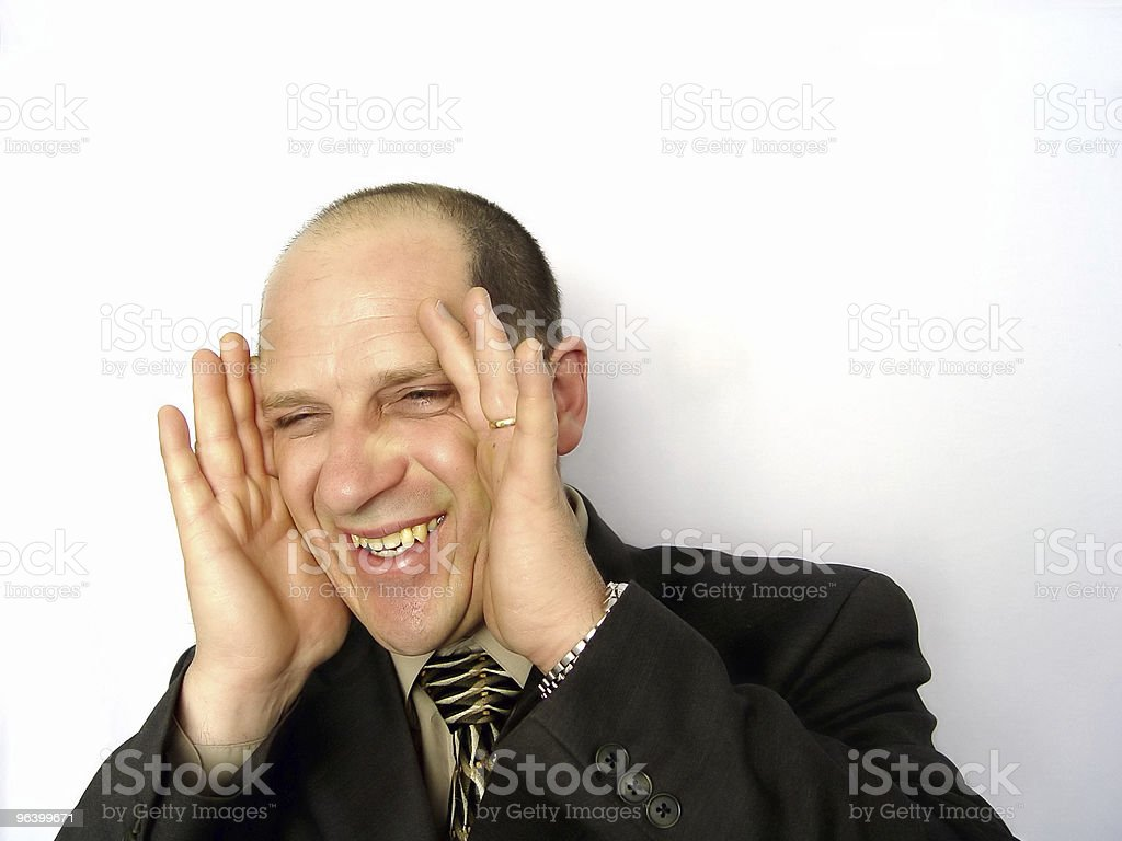 Businessman Playing Peek a Boo - Royalty-free Abstract Stock Photo