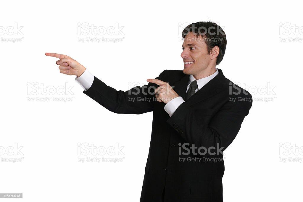 Homme d'affaires point photo libre de droits