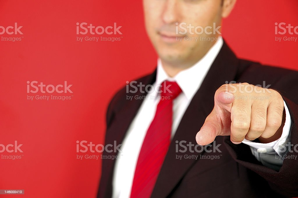 Businessman pointing with finger meaning I want you royalty-free stock photo
