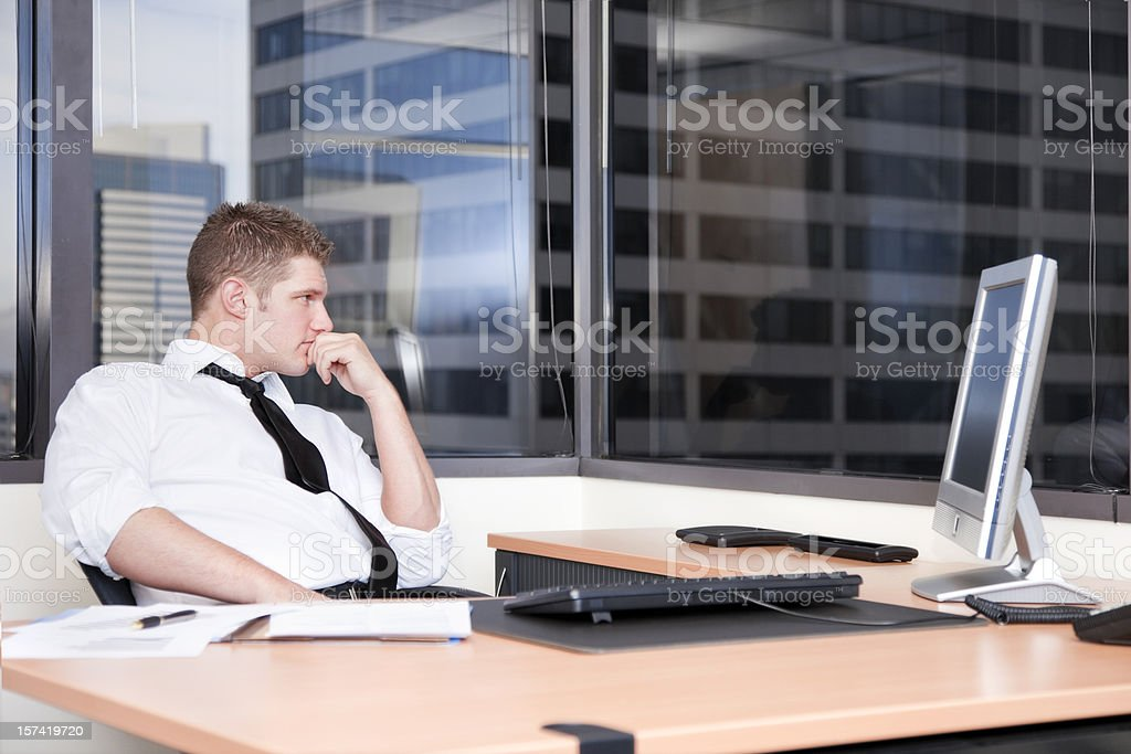 Businessman Pondering royalty-free stock photo