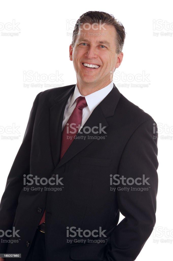 Businessman Portait on White royalty-free stock photo