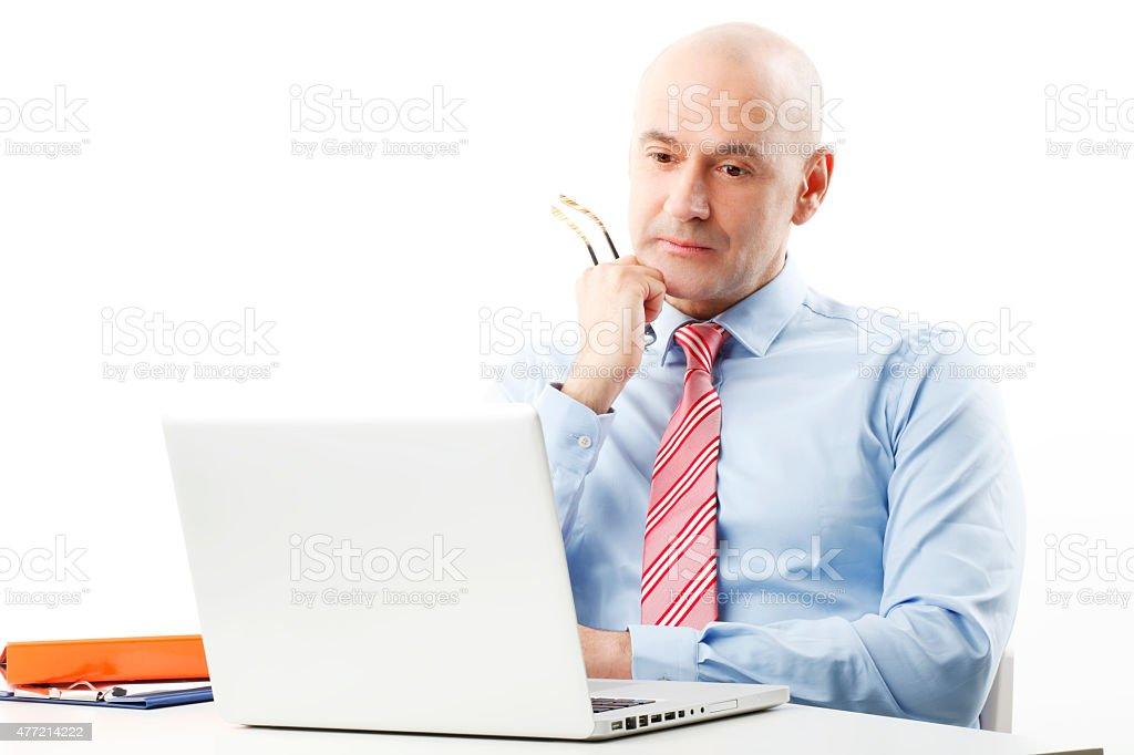 Businessman portait stock photo