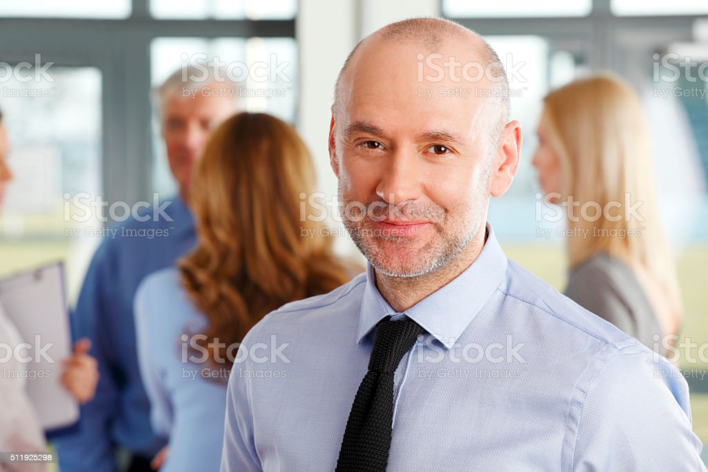 Businessman portrait stock photo