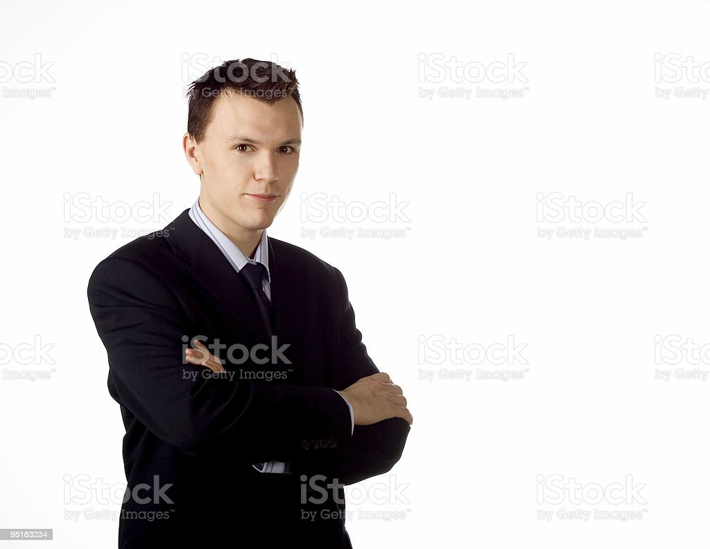 Businessman posing royalty-free stock photo