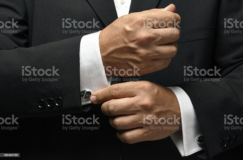 businessman preparation stock photo