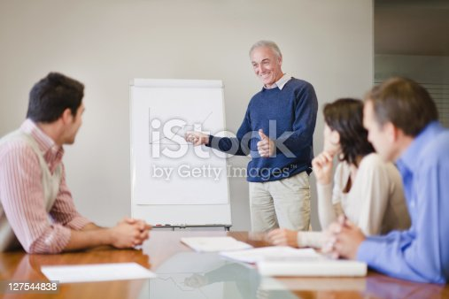875531516istockphoto Businessman presenting graph in meeting 127544838