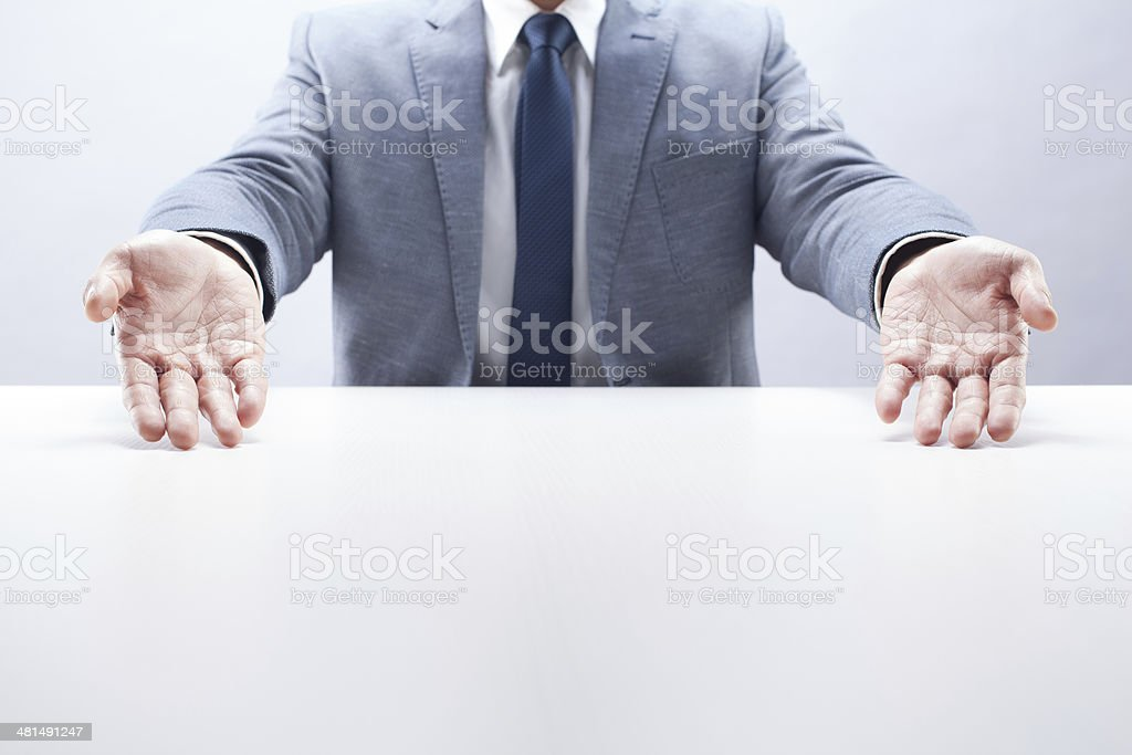 Businessman Presenting stock photo