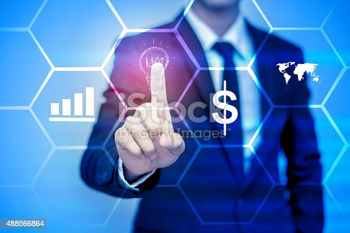istock businessman pressing support button on virtual screen. 488566864