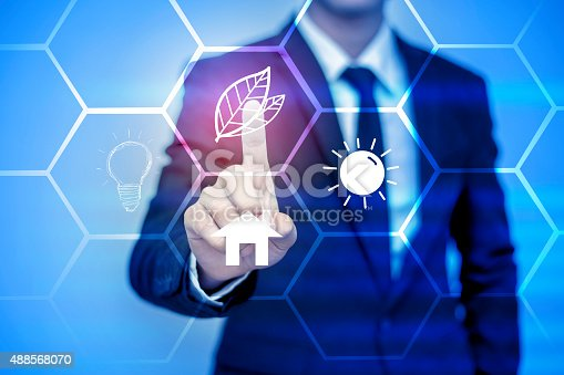 istock businessman pressing support button on virtual screen. 488568070