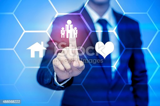 istock businessman pressing support button on virtual screen. 488568222