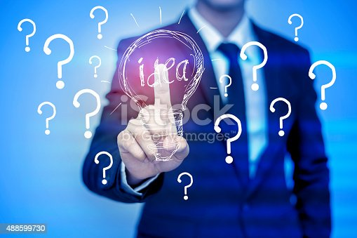 istock businessman pressing support button on virtual screen. 488599730