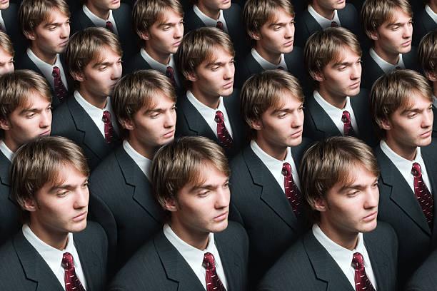 Businessman production stock photo