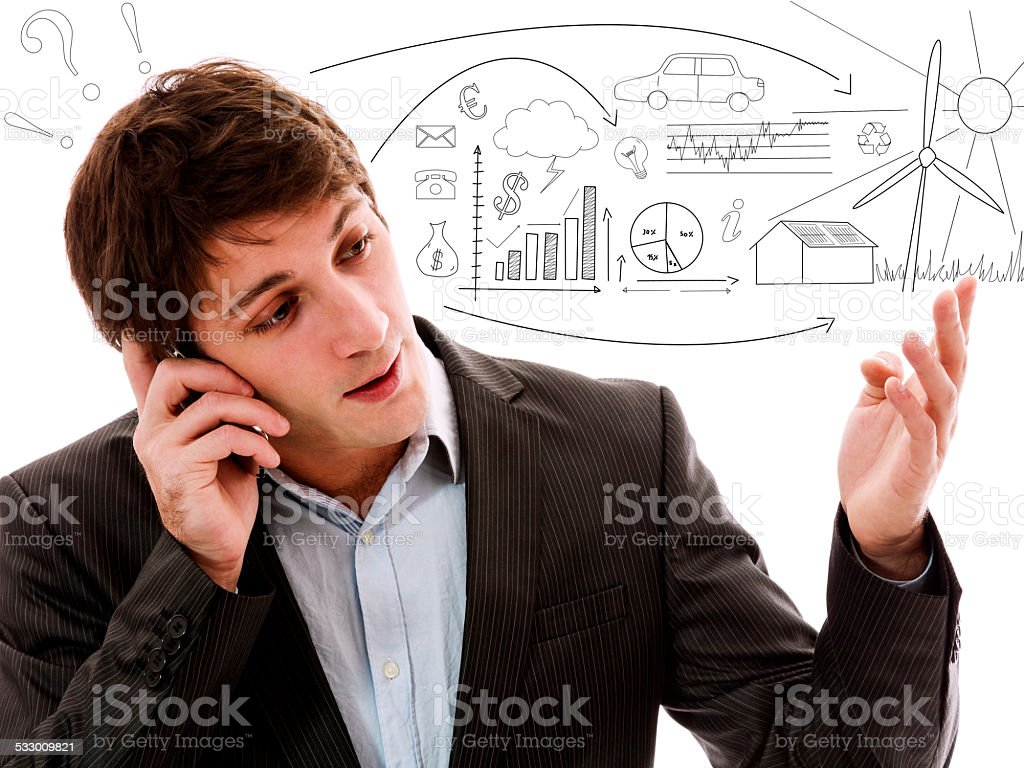 Businessman project stock photo